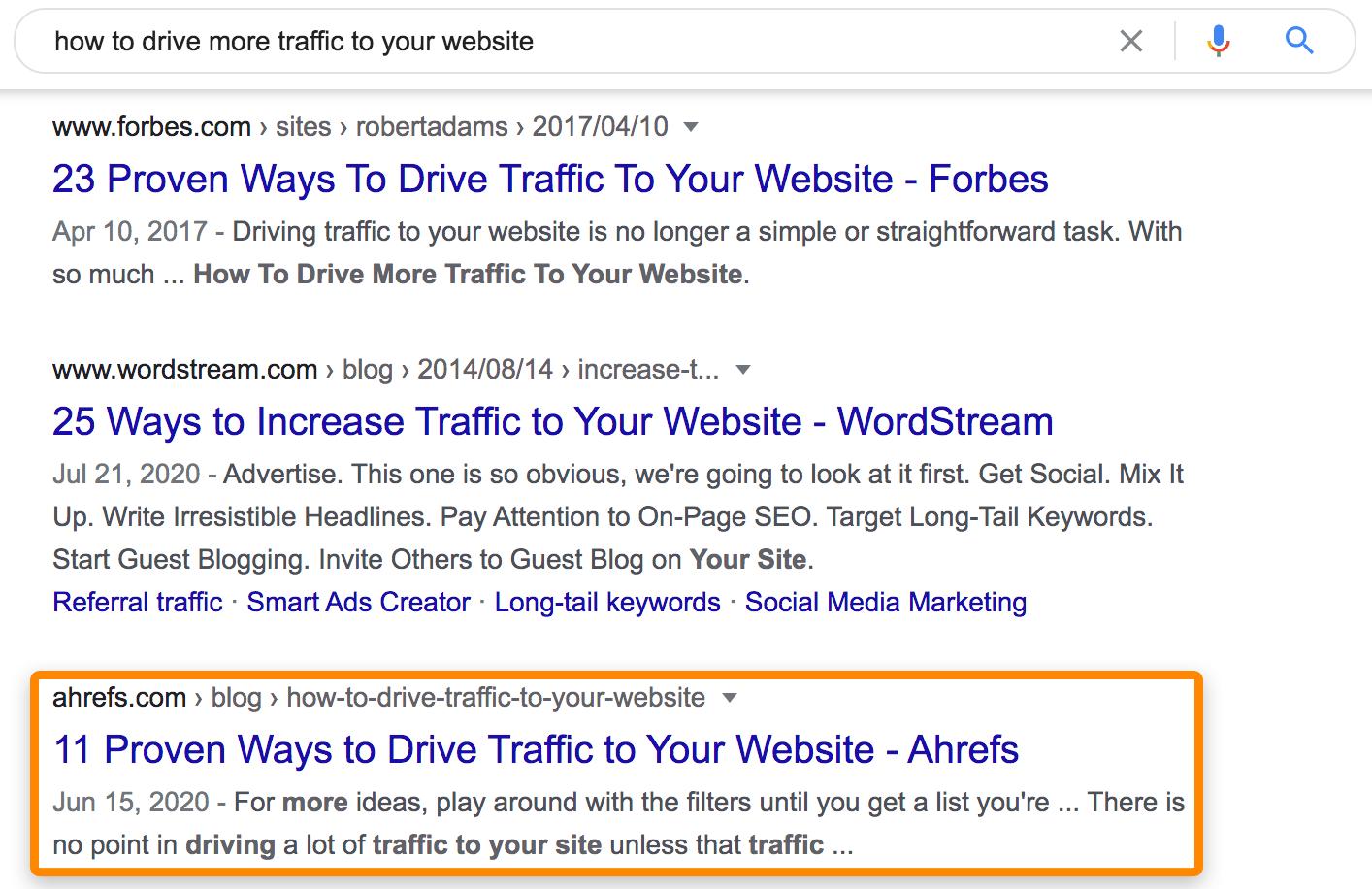 1 résultats de recherche Google