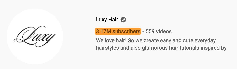 4 abonnés luxy hair