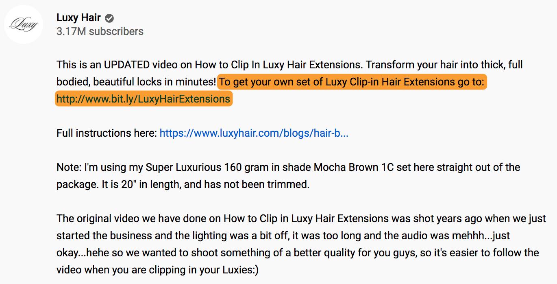 7 luxy hair description youtube