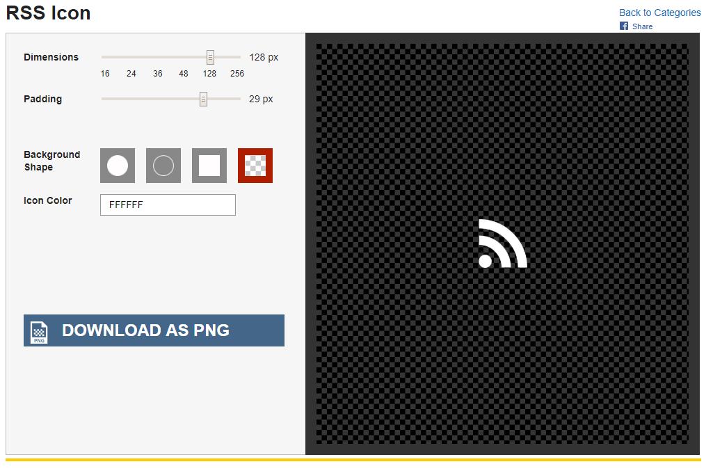 Création d'icône RSS