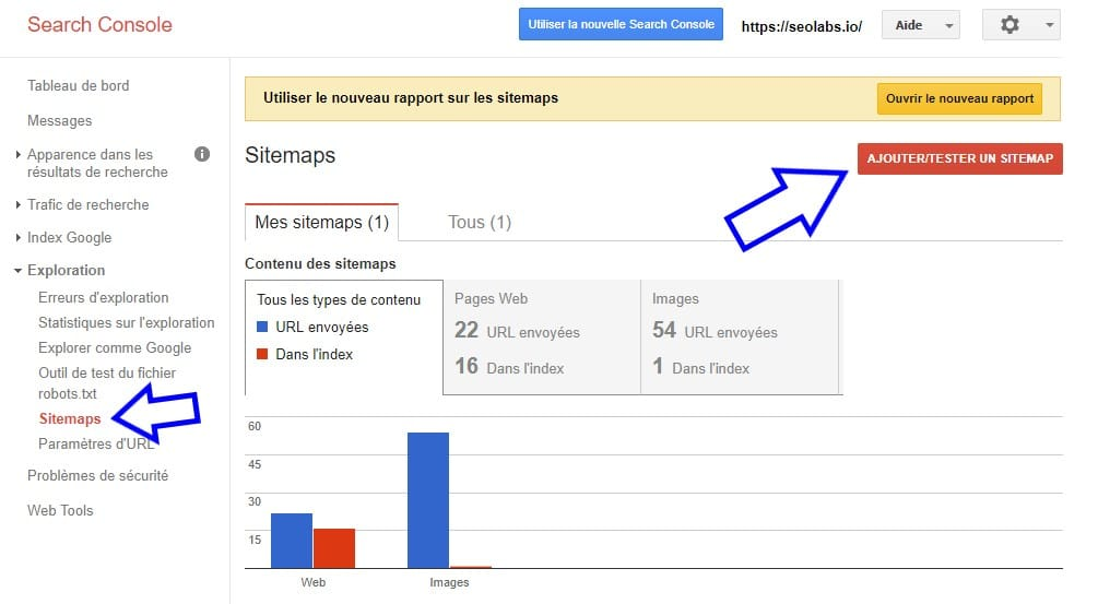 Soumettre Sitemap à Google